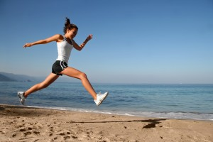 Runner on beach