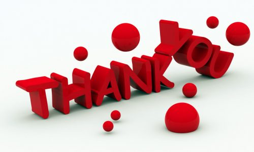 thank you logo in red