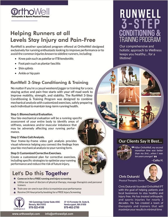 RunWell conditioning & training program for runners